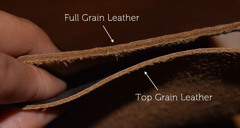 Full Grain and Top Grain Leather